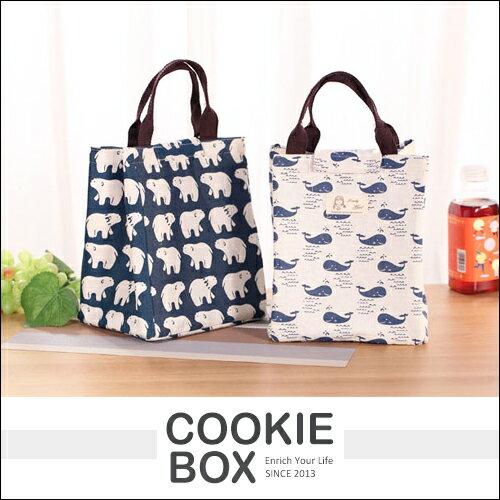 日式 防水 帆布 保溫 提袋 手提 袋子 隔熱 保冰 保冷 *餅乾盒子*