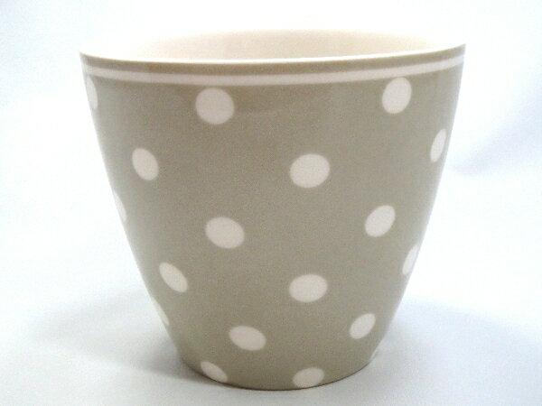 【預購】GreenGate  拿鐵杯    少女心 灰底小白點點 - 限時優惠好康折扣