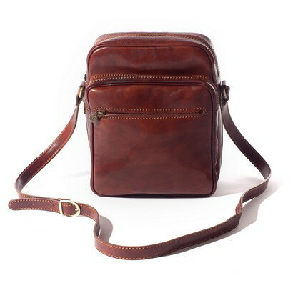 Tassia Fabio Unisex Leather Messenger Bag (cognac) 0