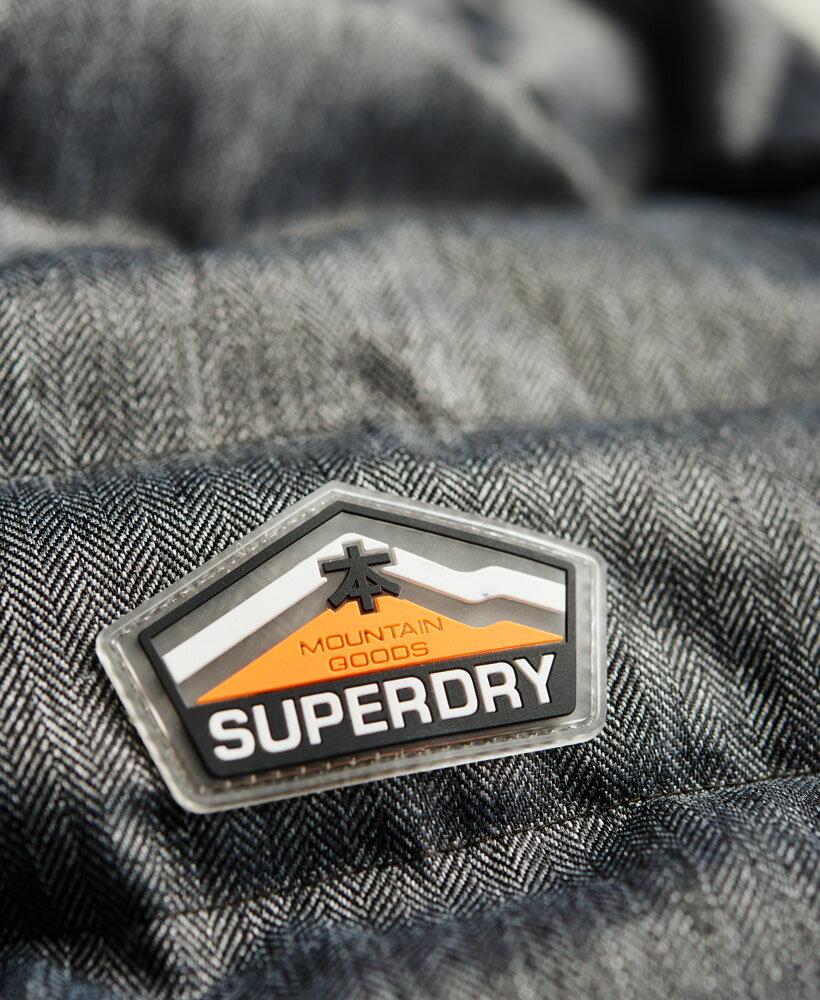 英國代購 極度乾燥 superdry Fuji MIX 男士保暖 拼接內鋪絨休閒雪地加厚夾克外套 灰色 5
