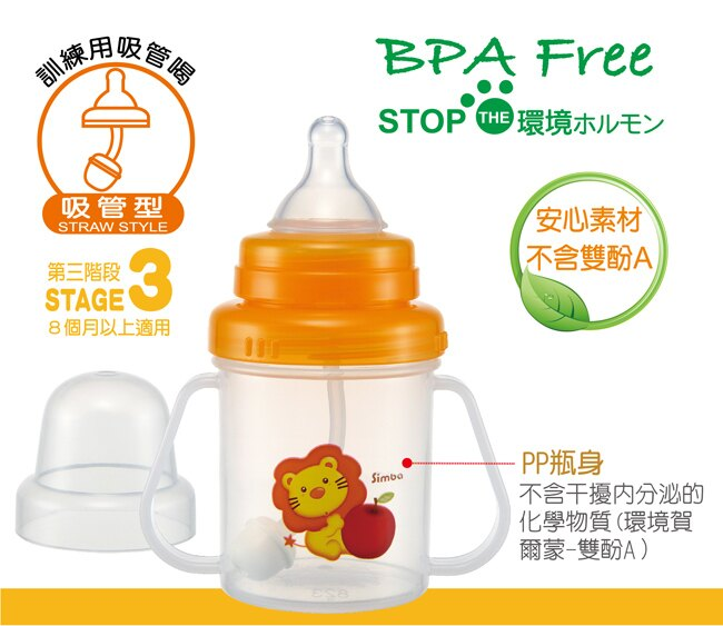 Simba小獅王辛巴 - 幼兒訓練杯(吸管型) 200ml 1