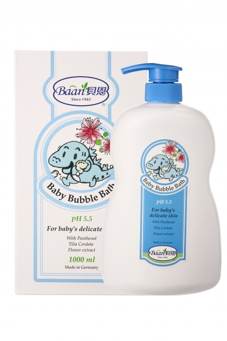 Baan 貝恩 - 泡泡香浴露1000ml+嬰兒洗髮精200ml 歡樂洗澡組 1