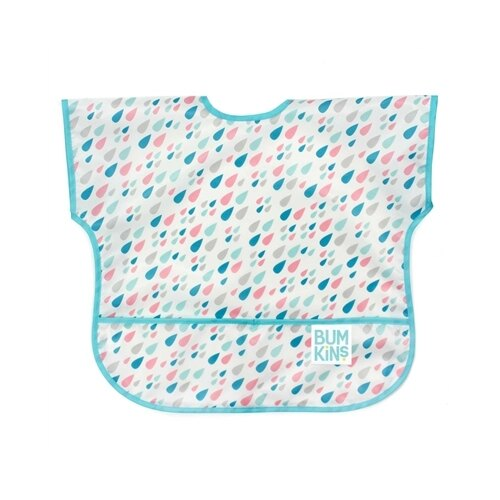 美國【Bumkins】兒童短袖防水圍兜 -小雨點 BKU-167 (1-3歲) - 限時優惠好康折扣