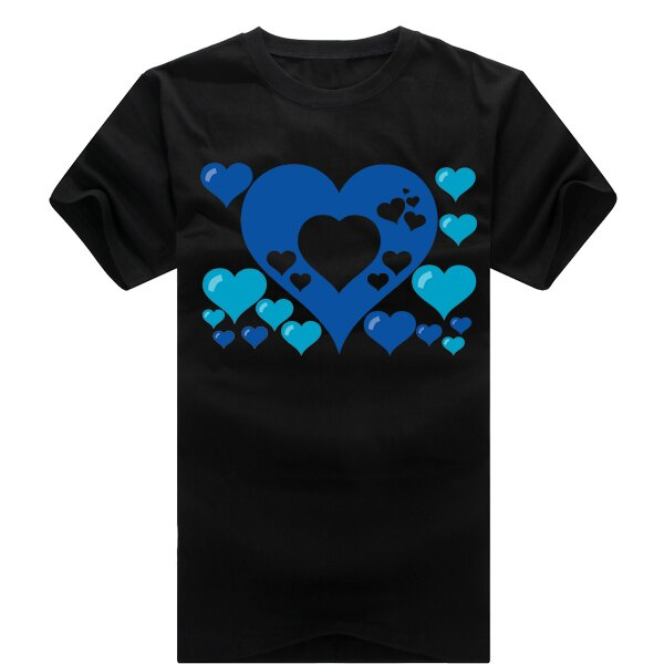 ◆快速出貨◆獨家配對情侶裝.客製化.T恤.最佳情侶裝.獨家款.純棉短T.MIT台灣製.藍色簍空愛心【Y0021】可單買.艾咪E舖 6