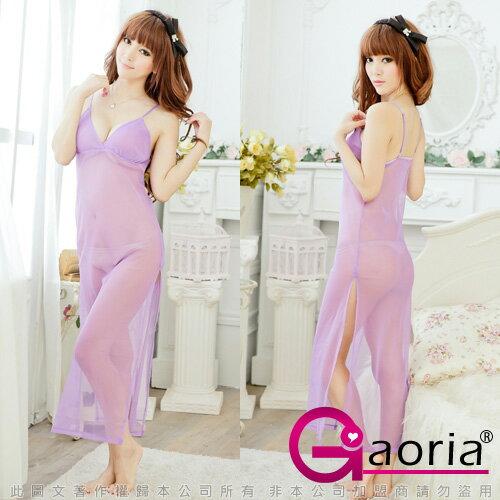 Gaoria◆誘惑滿點*開叉性感薄紗半透明長裙◆N2-0098◆情趣線上
