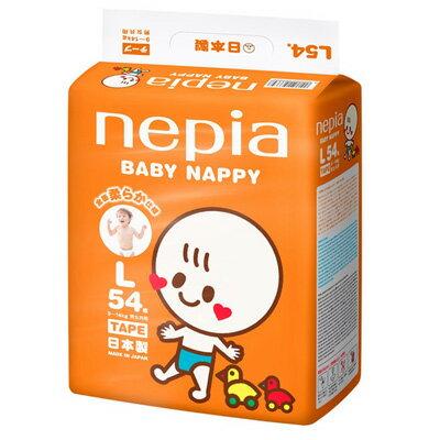 日本nepia王子 超柔嬰兒紙尿褲 L(54片/包) - 限時優惠好康折扣