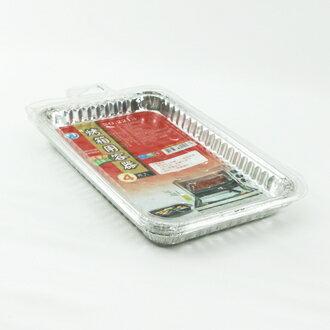 【珍昕】 名仕2213-4入鋁箔烤箱盤(L23.5xW14.5xH2cm )