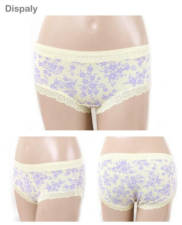 3件199免運【AJM】莫代爾纖維 點點玫瑰花紋平口褲3件組(隨機色) 3