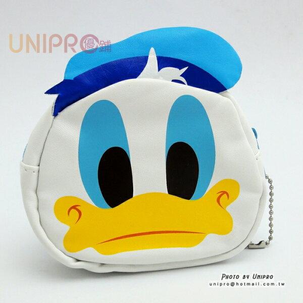 【UNIPRO】迪士尼 唐老鴨 Donald Duck 人造皮革頭型零錢包