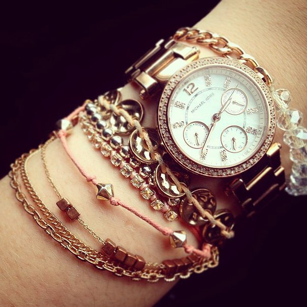美國Outlet正品代購 MichaelKors MK  玫瑰金陶瓷 水鑽 三環 手錶 腕錶 MK5616 6
