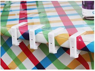 【露營趣】中和 TNR-100 透明 桌布夾 桌巾夾 蛋捲桌 休閒桌 野餐桌 竹板桌 料理桌 白金廚房 摺疊桌