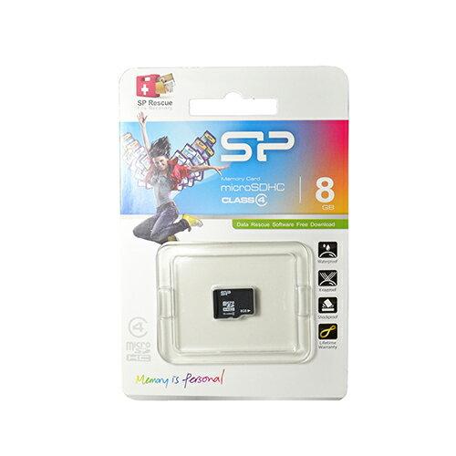 【行車記錄器配件】廣穎SP TF / Micro SD 8GB Class 4記憶卡