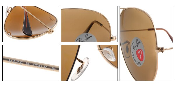 Ray Ban 雷朋 金邊茶色偏光 RB3025 太陽眼鏡 7