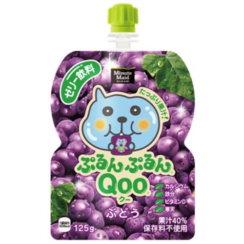 Qoo果凍飲便利包-葡萄(125g) 果汁含量40%