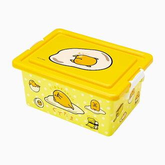 【真愛日本】ED方形收納箱M-GU三麗鷗家族 蛋黃哥 Gudetama 收納盒置物日用品