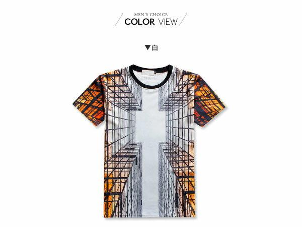☆BOY-2☆【NQ92079】滿版休閒透視感男裝短袖T恤 1