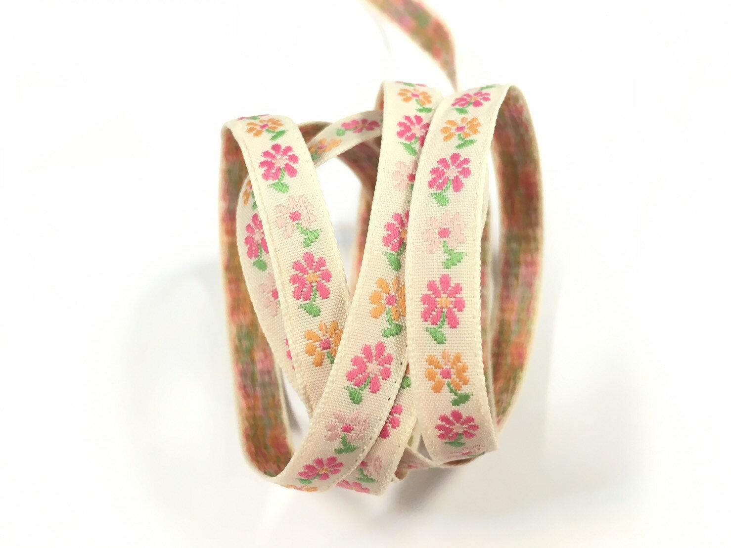 五瓣緹花緞帶 9mm 3碼 (7色) 6