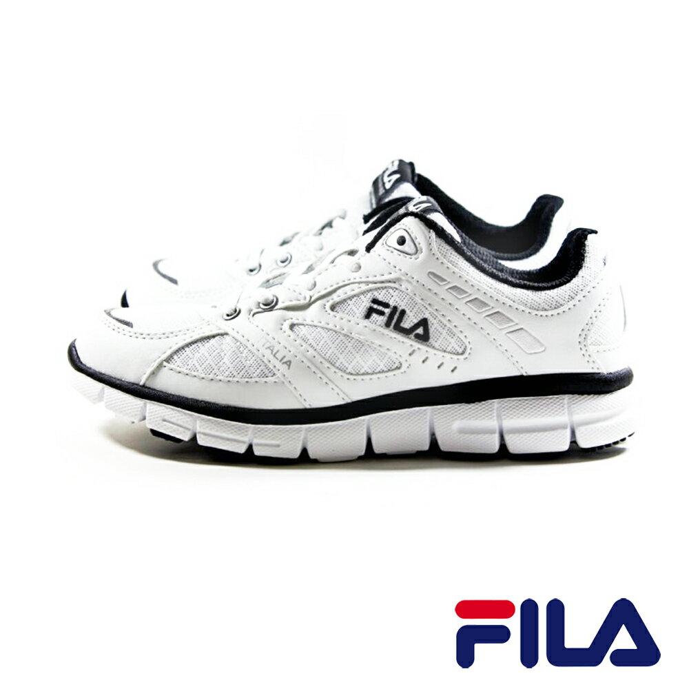 FILA  男款經典全白鞋 慢跑 工作鞋  J913P-110 0