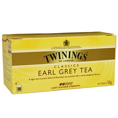 TWININGS 唐寧 EARL GREY TEA 皇家伯爵茶包2*25入/盒