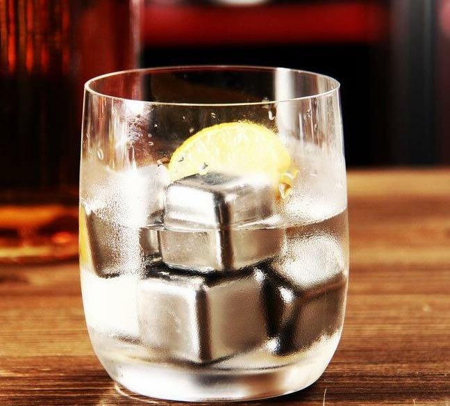 不鏽鋼冰塊 6粒套裝組送絨布套/威士忌瓶/冰石/冰沙/不會融化的冰塊/冰球/冰角/冰袋/保冷袋/快速醒酒器/不銹鋼冰塊 2