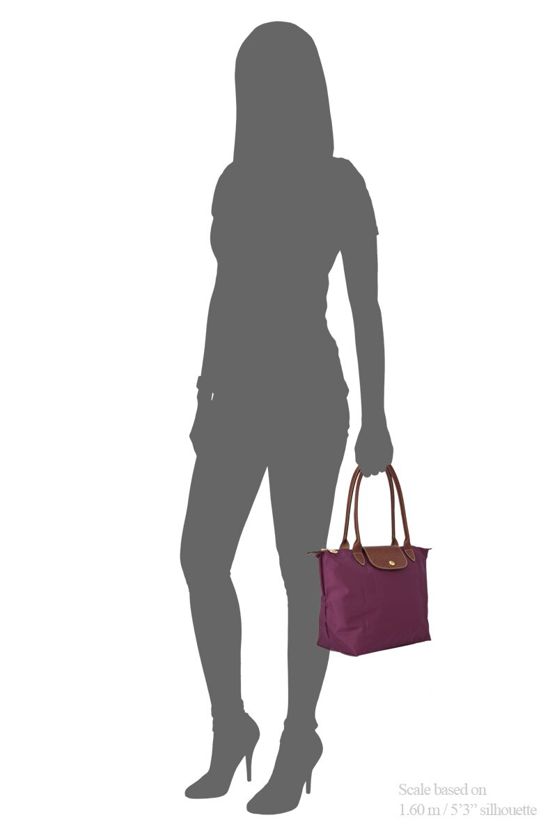 [2605-S號]國外Outlet代購正品 法國巴黎 Longchamp  長柄 購物袋防水尼龍手提肩背水餃包 覆盆紫 2