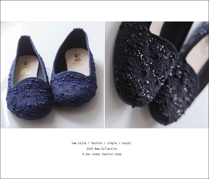 格子舖*【AI632】MIT台灣製 低調金蔥混色毛呢 圓頭平底包鞋 樂福鞋 懶人鞋 2色 1