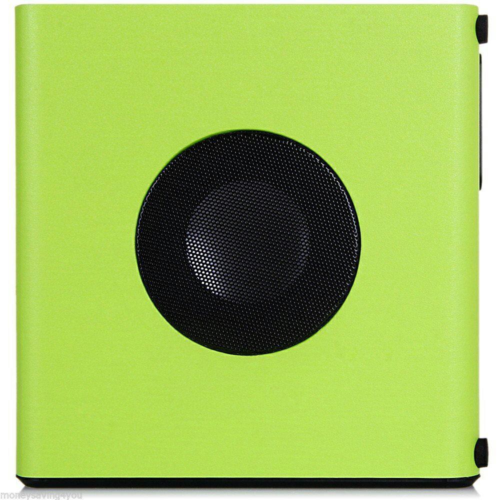 ALTAVOZ HIFI VERDE CAJA CON PANTALLA DIGITAL, MICROSD, AUDIO IN, AUX Y RADIO FM PARA MP3, MP4, SMARTPHONE, TABLET... 4