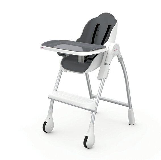 【淘氣寶寶】Oribel Cocoon 時尚機能高腳餐椅 灰色【公司貨】贈【慕之恬廊 Mustela 多慕雙潔乳200ml】