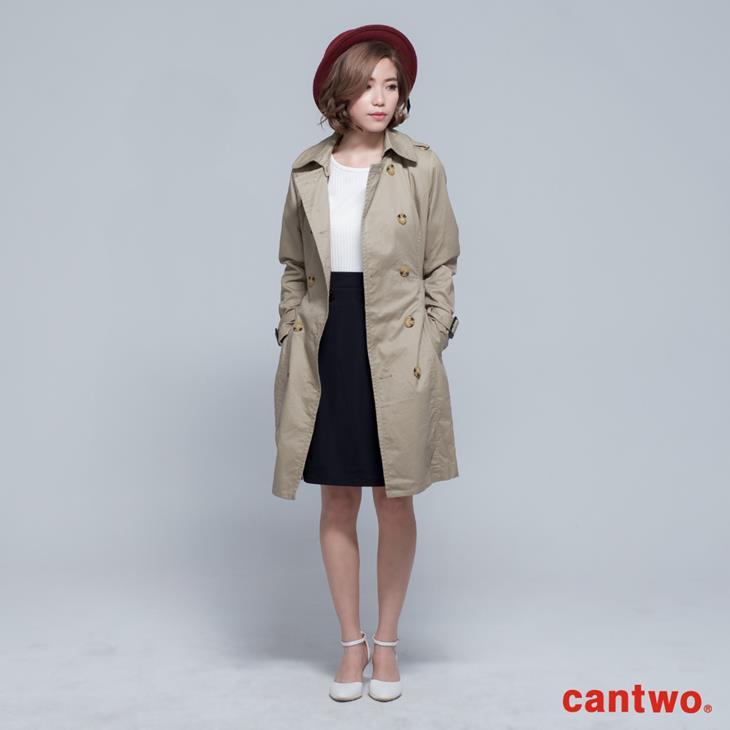 cantwo雙排釦兩穿式風衣外套(共二色) 0