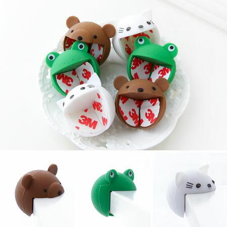 兒童安全 可愛動物嬰兒防撞桌角墊 單入裝 寶寶防撞角 桌角保護套 青蛙 貓咪 小熊【N200897】