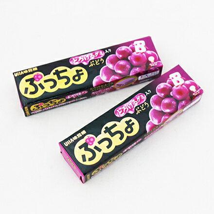 [敵富朗超市]UHA味覺糖噗啾葡萄條糖(50g)