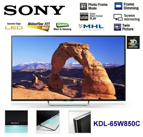 【佳麗寶】-公司貨(SONY)BRAVIA 液晶電視-W850C 系列-65型【KDL-65W850C】