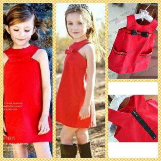 Promo Kebutuhan Bayi dan Anak Rakuten - ~cutevina~ sleeveless red dress (fc0014)