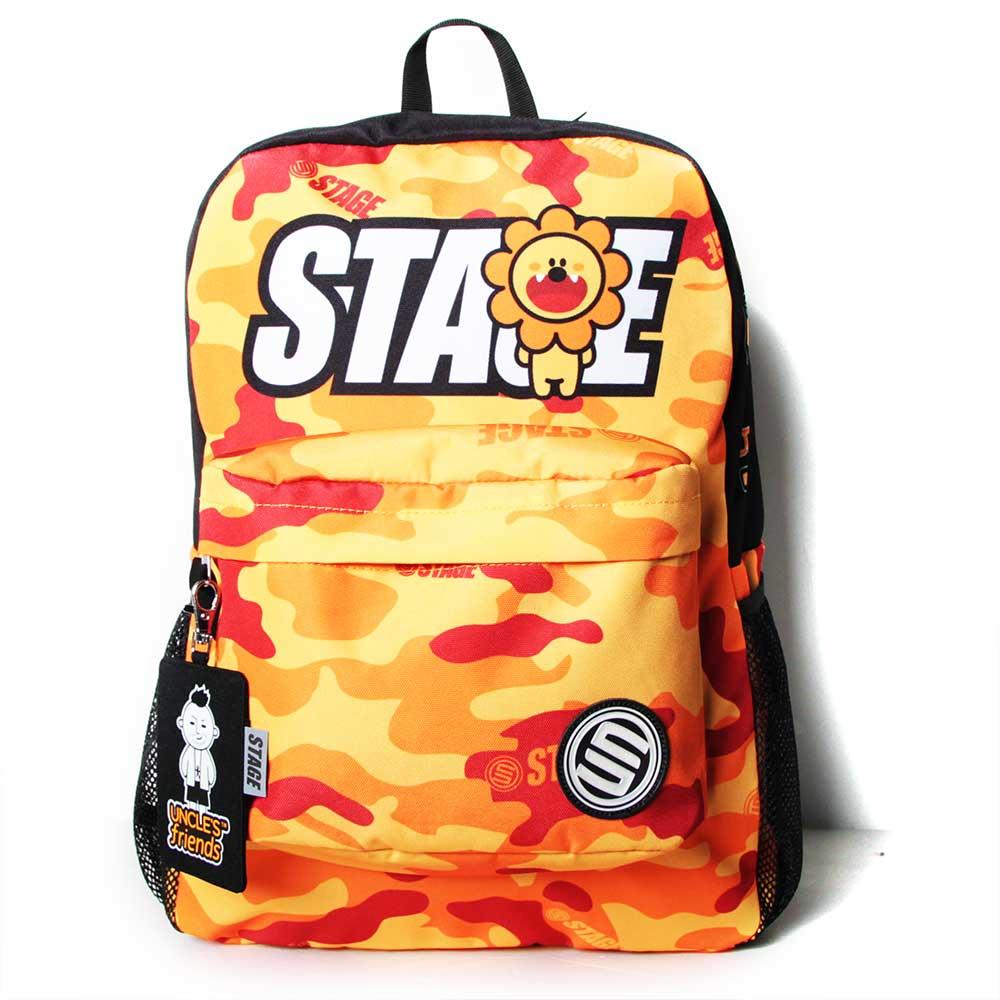 STAGE BAG × UNCLES FRIENDS LEO BACKPACK 橘色 獅子座 2