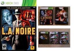 XBOX 360 LA NOIRE 黑色洛城:年度 特別完全完整版^(4片裝^) ~英文美