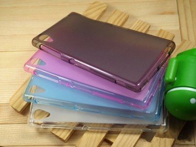 ☆索尼Xperia Z1 L39h 手機保護套 超薄後殼 彩色布丁套 清水套 SONY L39h 軟背殼 現貨【清倉】