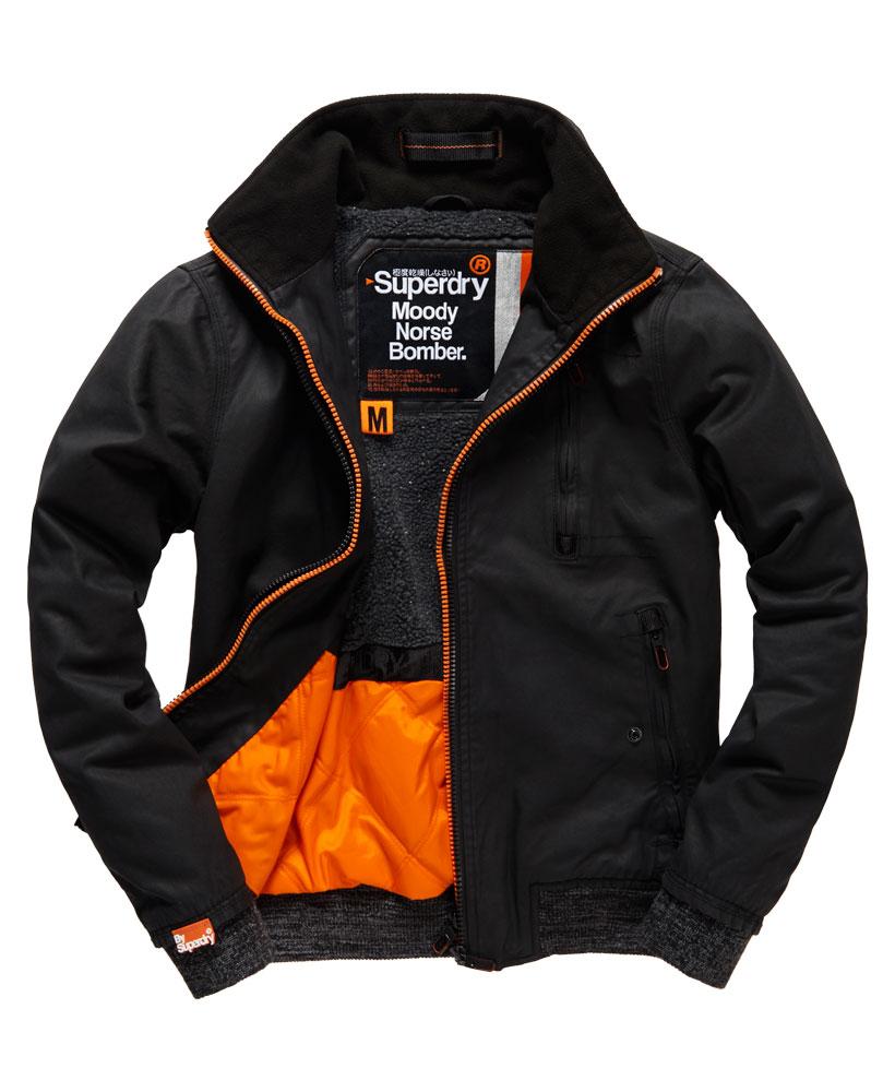 [男款]英國代購 極度乾燥 Superdry Moody Pilot短夾克 男士風衣戶外休閒 外套夾克防水防風保暖 黑色 0