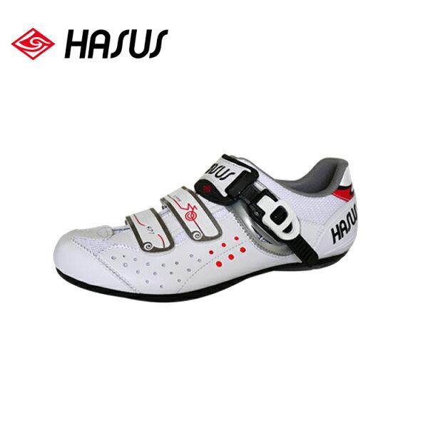 Hasus 悠遊樂活非卡式自行車鞋HKM01-WHT 白色/城市綠洲(白神駒、快扣、硬底子、腳踏車鞋)