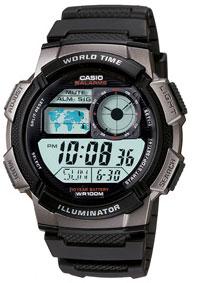 Reloj casio cronografo multifunción ae1000w-1b 0