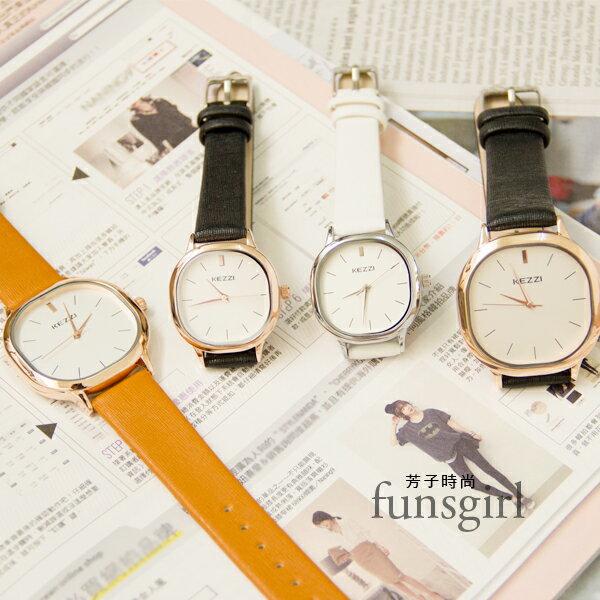方形大小款對錶皮質腕錶手錶~3色^~funsgirl芳子 ~B230048~ ~  好康折
