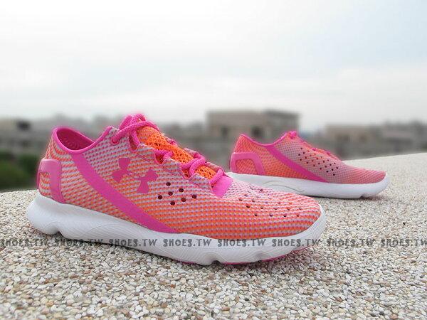 Shoestw【1268339-831】UNDER ARMOUR Speedform 慢跑鞋 桃紅 橘點點 女款