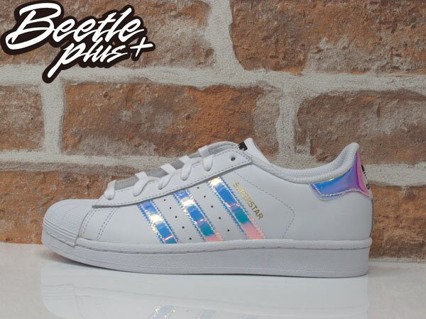 女生 BEETLE ADIDAS SUPERSTAR GRADE SCHOOL 愛迪達 金標 雷射 反光 AQ6278 0