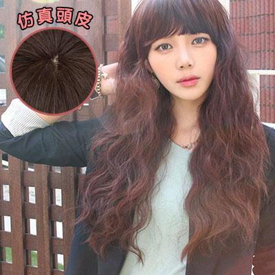 韓系女孩超修臉蓬鬆長捲假髮【MA114】高仿真超自然整頂假髮☆雙兒網☆ 0