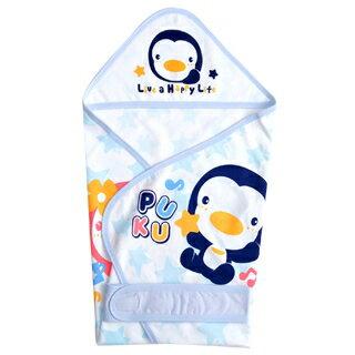 『121婦嬰用品館』PUKU春夏單層包巾 - 藍 0