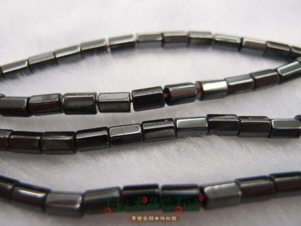 白法水晶礦石城 巴西 天然-黑膽石 5*3mm -長管切面- 串珠/條珠 首飾材料