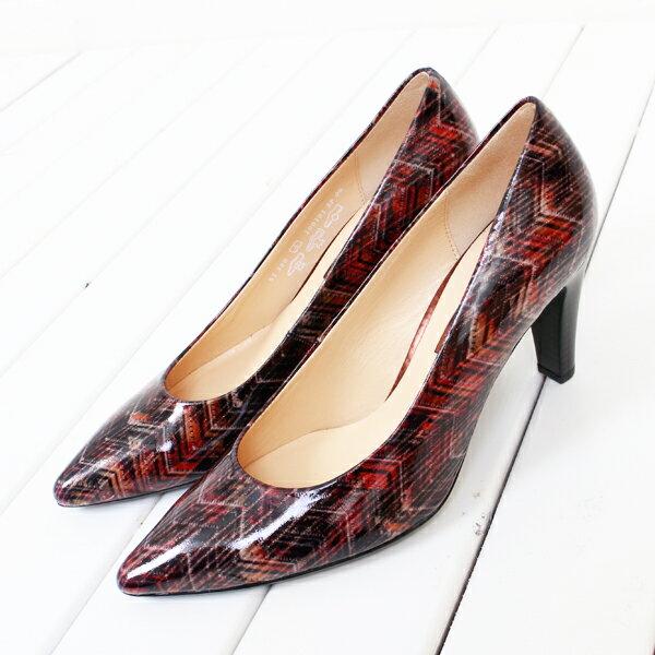 Gabor 菱紋未來感時尚低跟鞋 6