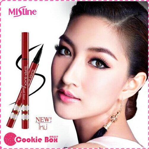 泰國 Mistine 極致黑 全效 眼線液筆 (紅管) 1g *餅乾盒子*