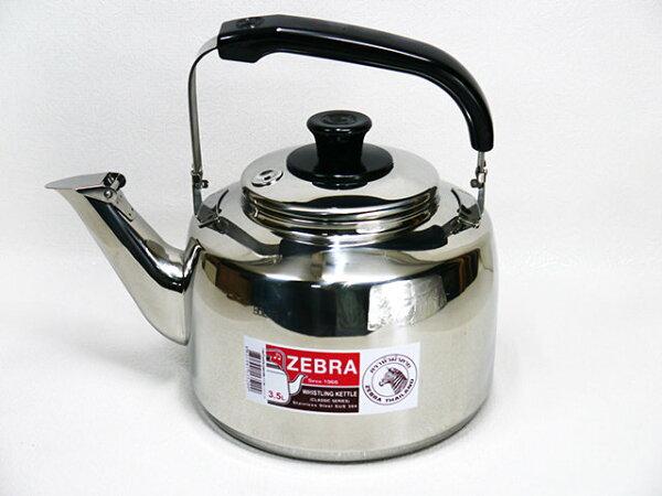 快樂屋♪ 斑馬牌 厚款正304#不鏽鋼 笛音茶壺 3.5L桌上型 開水壺.冷水壺 極厚款另有 2.5/ 4.5/ 7.5L