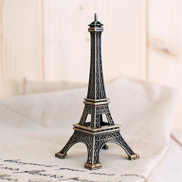 居家擺設 拍照道具背景 鐵塔模型 仿舊金屬鐵塔擺飾^(高度13cm^) ~真愛香水~ 10