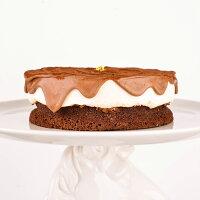 野餐美食排行榜香濃起司生巧克力蛋糕-6吋-免運費 [ 不加一滴麵粉的生巧克力蛋糕、滑順起司霜、特製白蘭地巧克力淋醬 ]**SuperSale限定**12/5~12/12買就送小布朗尼2入!!!**